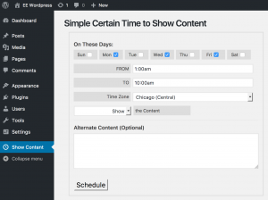 Simple Certain Time to Show Content
